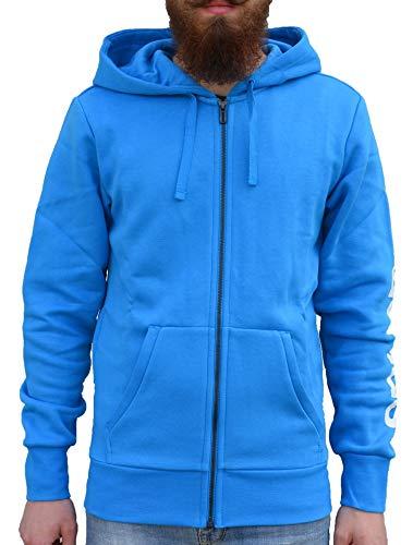 adidas Herren Essentials Linear Full Zip Hooded Kapuzen-Jacke, Bright Blue/White, S Preisvergleich