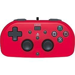Hori - Mando Mini Con Cable para PS4 Rojo