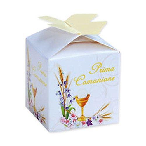 25 scatoline porta confetti per comunione - bomboniera -