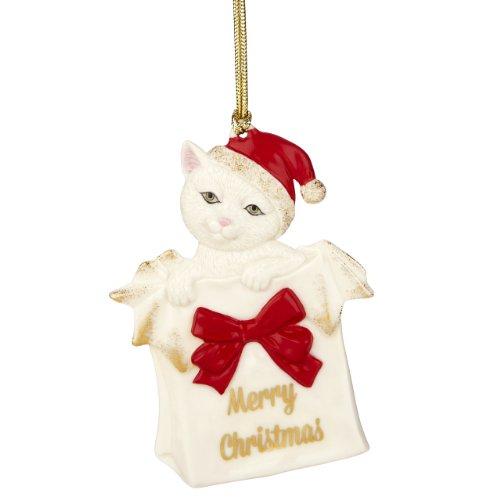 Lenox Merry Christmas Kitty Ornament -