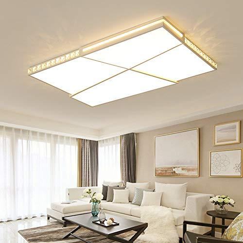 5151BuyWorld Lampe Kristall Moderne Led-Deckenleuchte Für Wohnzimmer Schlafzimmer Ultradünne 6Cm Deckenleuchte Factory Outlet Top Qualität {Kaltes Weiß & L90 * W60cm} -