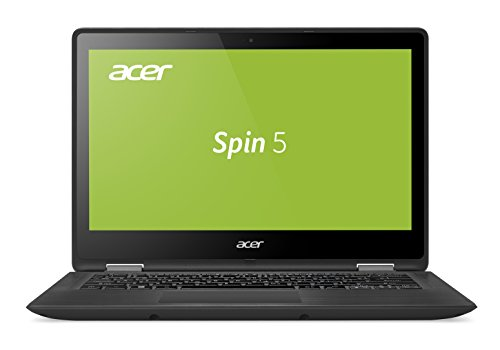 Acer Spin 5 SP513-51-51D9 33,8 cm (13,3 Zoll Full-HD IPS) Convertible Notebook (Intel Core i5-7200U, 8GB RAM, 256GB SSD, Intel HD, Win 10) grau