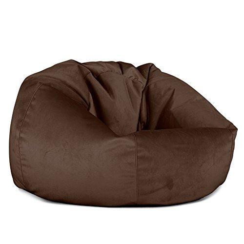 Lounge Pug, Klassischer Sitzsack Sessel, Samt Espresso - Espresso Sessel