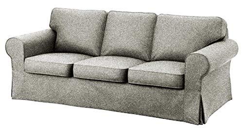 Custom Slipcover Replacement IKEA Ektorp 3-Sitzer Sofabezug aus Baumwolle ALS Ersatz für IKEA Ektorp Sofabezug Polyester Flax