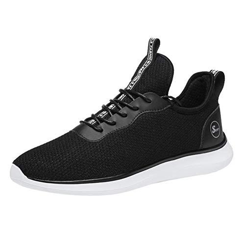 。◕‿◕。 Meilleure Vente! LuckyGirls Hommes Chaussures de Marche Antichoc Course Respirant Maille Léger Sport Sneakers Sport Antichoc Chaussures De Marche De Mode Shoes 39-48