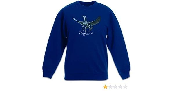 Urban Backwoods Pegasus I Bambini e Ragazzi Ragazze Felpa Pullover Maglione Flying Pegasi Pferd Horse Greek Mythology