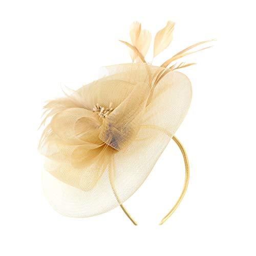 Younthone❤❤Kopfband Haarspange,British Bridal Tea Party speciales neues Design für Damen Fascinator Damen Organza Kirche Kentucky Derby
