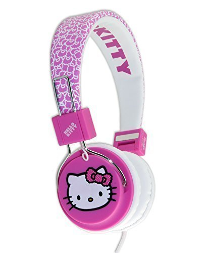 HELLO KITTY TEEN HEADPHONES PINK BUBBLE BOW