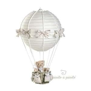 Pasito a pasito lampe montgolfi re ours beige 70x 40xcm b b s pu riculture - Plafond pour la prime de naissance ...