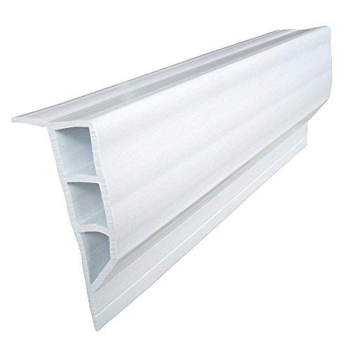 Dock Edge + Standard Full Face PVC Profile - White, 16 ft Test