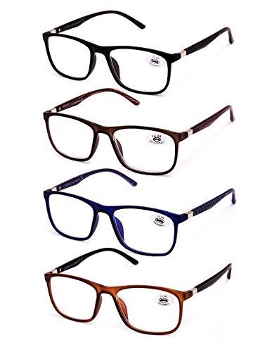 2354d0429e Pack de 4 Gafas de Lectura Vista Cansada Presbicia, Gafas de Hombre y Mujer  Unisex