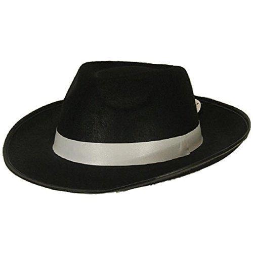 """Hut Al Capone """"schwarz"""" / Gangsterhut / Kopfbedeckung / Fasching / Karneval"""