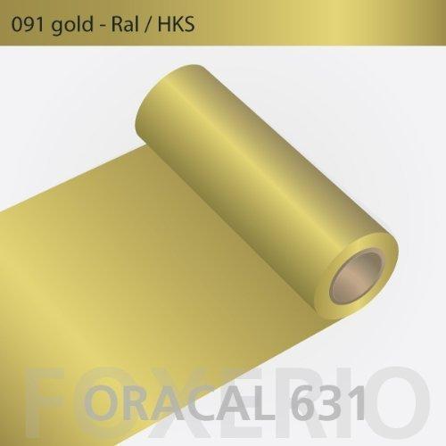 Orafol - Oracal 631 - 31cm Rolle - 10m (Laufmeter) - Gold / matt, 091 - g - 31cm - 631_1 - 10m_23 - Autofolie / Möbelfolie / Küchenfolie