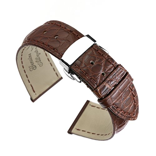 18mm-brown-watch-straps-bands-replacement-luxury-alligator-skin-leather-handmade-with-deployment-cla