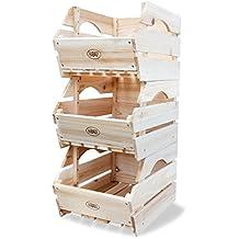 habau cajas de almacenaje para apilar madera unidades