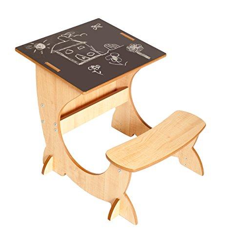 Little helper 4-in-1 artstation bambino desk, lavagna e cavalletto, 3 - 6 anni, naturale