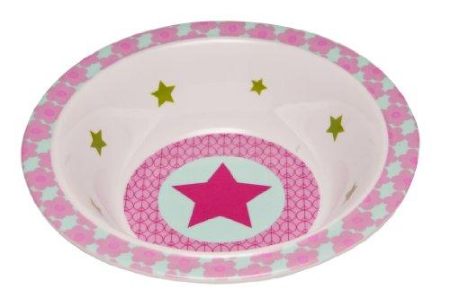 Lässig Dish Bow Melamin Schüssel aus 100% Melamin BPA-frei und rutschfest,Starlight, magenta