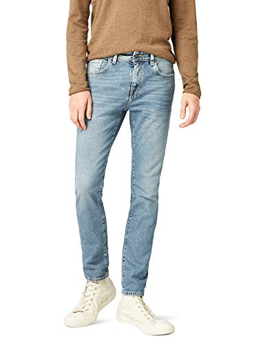 69e1c3b12129f SELECTED HOMME Shnslim-Leon 1437 L St Jeans STS Slim, Blu Light Blue Denim