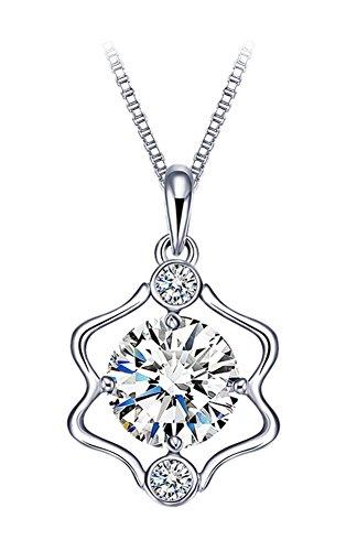 CUOKA MIRACLE Sternzeichen Kette Zwillinge 925 Sterling Silber Damen Halskette mit Zodiac Anhänger 12 Sternbilder Horoskop Astrologie Anhänger Halsschmuck Damen (Zwillinge) -