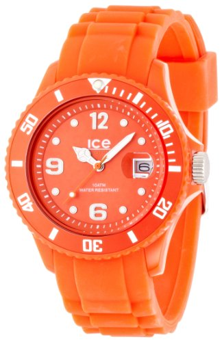 ICE-Watch Shadow Unisex Quartz Watch with Orange Dial Analogue Display and Orange Silicone Bracelet SW.TAN.U.S.12