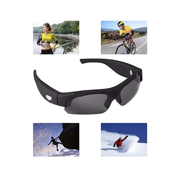 Bluetooth Gafas de Sol, Gafas estéreo Digital de los Deportes de conducción Gafas polarizadas Gafas de Sol de la cámara… 1