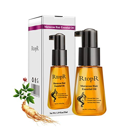 KISSION Maroc Noix Huile essentielle de soin des cheveux, Nourrir Réparer les cheveux abîmés Améliore les pointes fourchues Rugueux Contrôle de l'huile (35 ML)