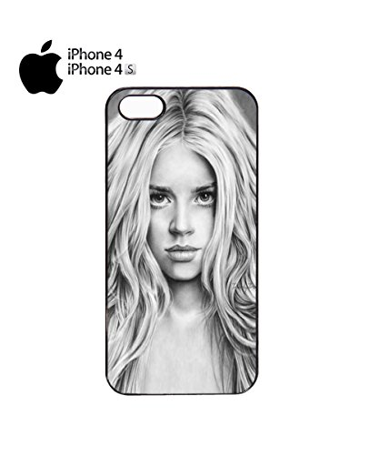 Beautiful Girl Cute Vintage Drawing Artist Mobile Phone Case Cover iPhone 6 Plus + White Noir