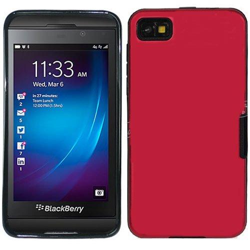 Rot glänzend glänzend Hybrid Rubber Soft Skin Schutzhülle Hard Case Cover für Blackberry Laguna Z10mit Gratis Beutel -