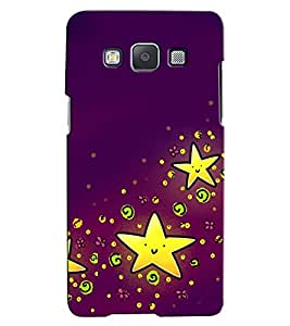 Citydreamz Yellow Stars Hard Polycarbonate Designer Back Case Cover For Samsung Galaxy A8
