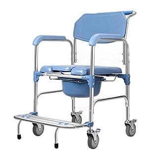 41ShqEIviVL. SS324  - HH- Taburetes y Asientos de Ducha y baño Cómoda con Ruedas/Silla For Inodoro con Asiento Y Respaldo Acolchados, For Anciana/Discapacitada/Embarazada - Altura Ajustable