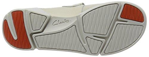 Clarks Tri Amanda, Damen Mokassin, Weiß (Off White Combi), 39 EU (5.5 Damen UK) -