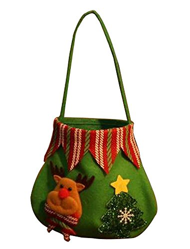 Set di 3 sacchetti di regalo di natale con decorazioni natalizie [d]