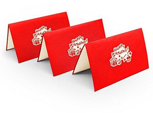 3er-Set überraschende Geburtstagskarten – fröhliches 3D Pop-Up Karten-Set zur Gratulation zum Geburtstag – hochwertige Karten für Geburtstags-Glückwünsche