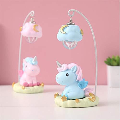 ns Unicorn Night Light Resin Crafts Ornaments Cute Girl Heart Student C 8.5cmX7cmX18cm ()