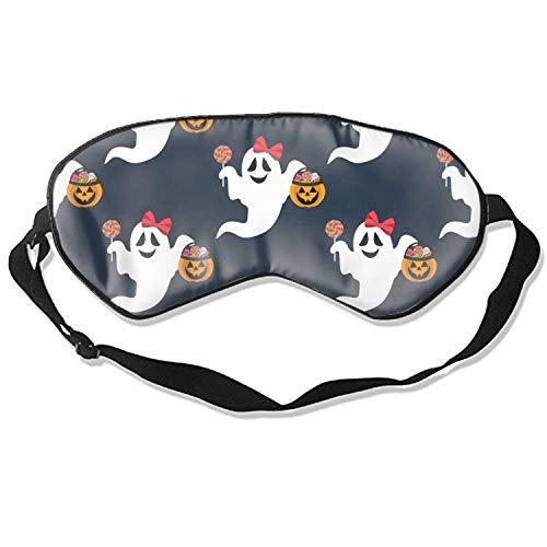 Weiche & glatte Schlafmaske Lustige Schlafmaske Kreative Augenmaske Schlaf (Halloween Geist)