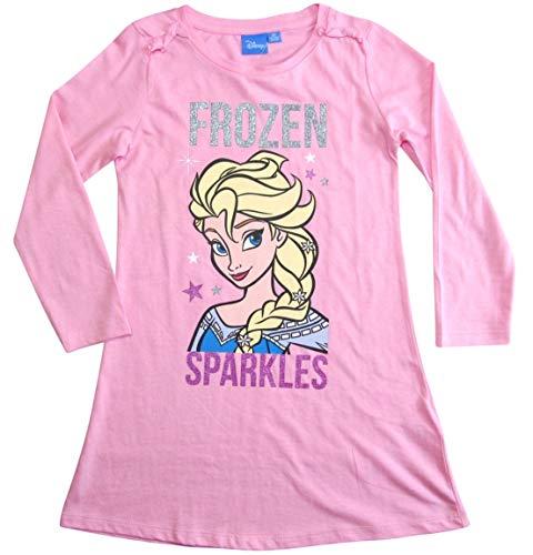 Frozen Nachthemd Nachtkleid Mädchen Disney (116, Rosa)