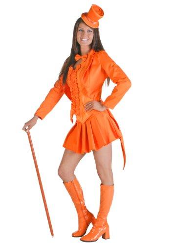 Sexy Orange Tuxedo Fancy dress costume X-Large (14-16) (16 Tuxedo)