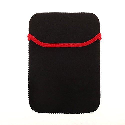 BRALEXX Universal Neopren 8 Zoll Tablet PC Hülle passend für Ruggear RG900, Schwarz
