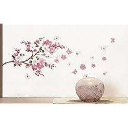 Denshine Arte vinilos removible Cita DIY vinilos decorativos para habitaciones vinilos florales adhesivos pared para habitaciones