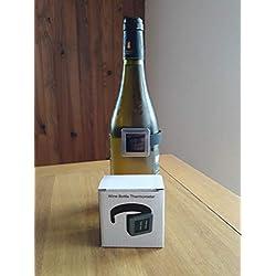 thermomètre Digital vin pour Bouteilles Haut de Gamme Cadeau Homme St Valentin Mariage Anniversaire fête www.biowineandco.COM