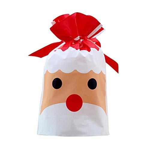 carol -1 50 Pack Kordelzug Rucksack Tasche, Turnbeutel Süßigkeiten Bonbon Schokolade Tasche Party Zubehör Deko Taschen, Weihnachten Geschenk Beutel Taschen für Kinder Jungen Mädchen Geburtstagsparty