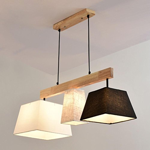 Square Pendant Light Classical Cloth Lamp Shade 3 Lights High Quality Adjustable Height Hanging Lighting Modern Design Living Room Dining Room Bedroom Ceiling Lighting E27 Socket L93cm W30cm Buy Online In Luxembourg At Luxembourg Desertcart Com