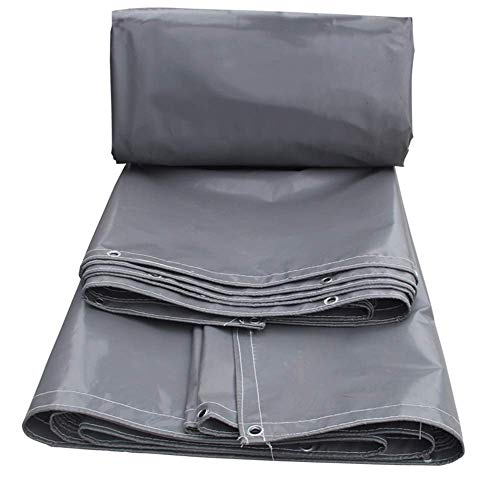 FREIHE.gpf Heavy Duty Tarpaulin Gray Rubber Tarpaulin 100{d339f4c3ff8c004685b2c8e5a22df5adc0e366280ab18b73e0feec91310b5bd9} Waterproof Anti-UV Easy to fold for Outdoor Gardens Swimming Pool Cover 600g / m (Color : Gray, Size : 4.5x8m)