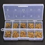 High-Quality-500pcs-10-Sizes-Fresh-Water-Sea-Fly-Fishing-Tackle-Hooks-With-Box-Black