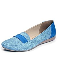 MERIGGIARE WOMEN BLUE SYNTHETIC LOAFERS