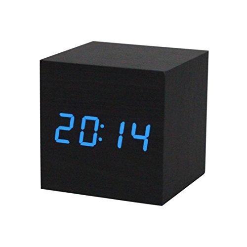 kingwo-numerique-reveil-mini-cube-bois-grain-lumiere-reveil-62x62x62mm