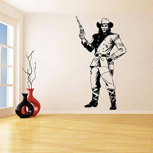 ljradj Gamer Pistole Entfernbare Wandaufkleber Für Wohnzimmer Wohnkultur Kunst Vinyl wasserdichte Abziehbilder Jungen Schlafzimmer Spielzimmer weiß 75X140 cm (Pistole Glock Teile)