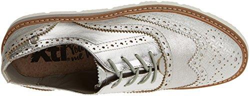 Xti 046706, chaussures Derby femme Argenté