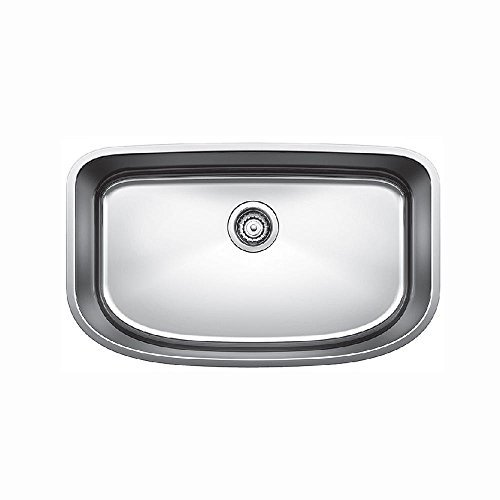 Bowl Undermount Kitchen (Blanco 441586 One Super Undermount Single Bowl Kitchen Sink, Small, Stainless Steel by Blanco)
