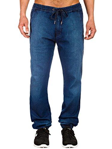 Reell Jeans Uomo Pantaloni / Pantalone ginnico Jogger Indigo